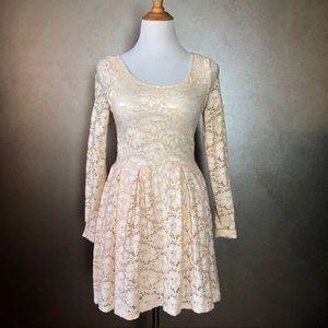 Free People Peach Lace dress